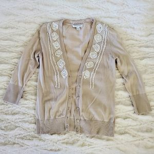 Banana Republic cardigan with flowers